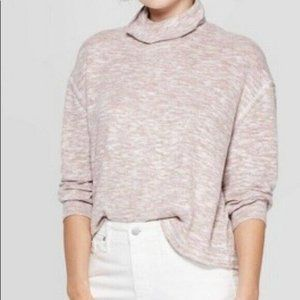 Soft Turtleneck Marled Oatmeal Neutral Medium